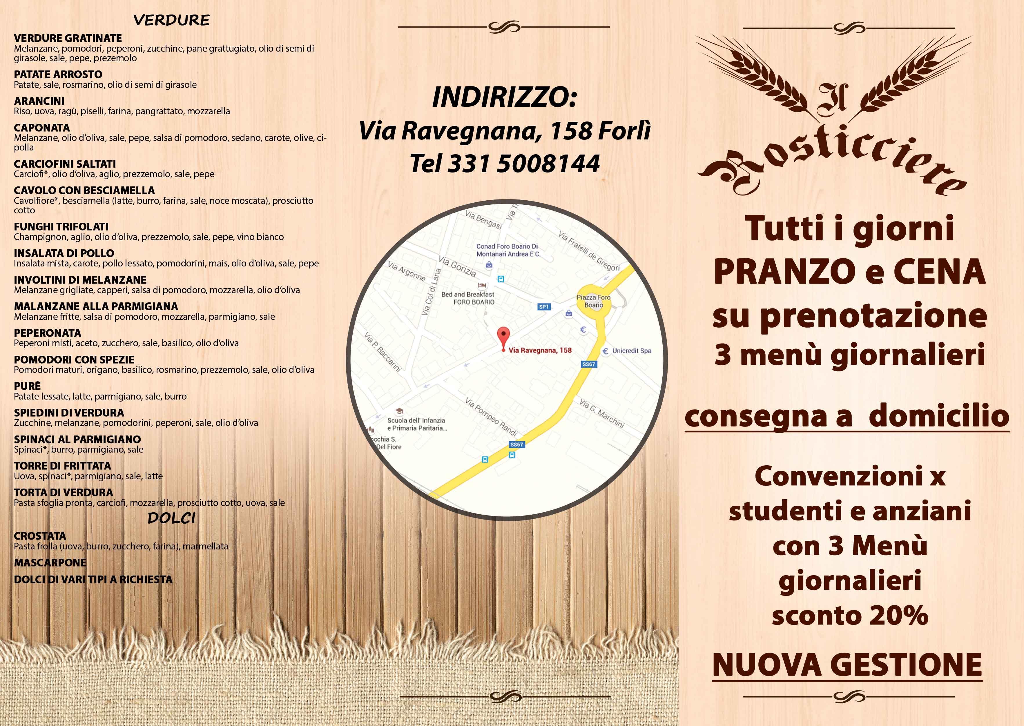 Grafica Pieghevole Il Rosticciere